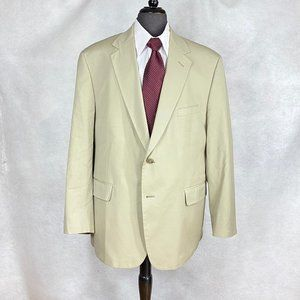 Brooks Brothers tan cotton blend blazer